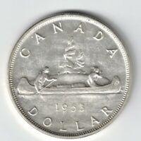 CANADA 1953 SF SWL VOYAGEUR SILVER DOLLAR QUEEN ELIZABETH II SILVER COIN