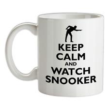 Keep Calm And Orologio Snooker Mug - Giocatore - Snookered - Stecca Crogiolo