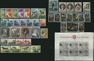 Republic SAN MARINO Postage Stamp Collection  EUROPE Used Mint LH