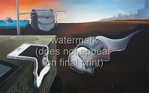 """SALVADOR DALI Poster or Canvas Print """"The Persistence of Memory"""" Modern Version"""