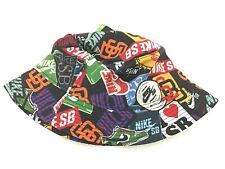 Nike SB Skateboard Stickers Bucket Hat Heineken  All Over Print Size Large Rare