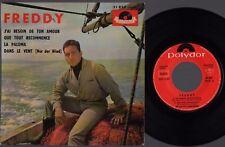 ♫EP 1961 Freddy Quinn FRANZÖSISCH GESUNGEN J'ai Besoin De Ton Amour Polydor NM ♫