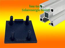 2 Endkappen für Montageprofil 40 x 40mm Alu Photovoltaik Solar PV Profil Schiene