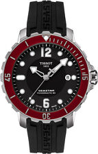 Tissot T0664171705701 Seastar 1000 Red Ceramic Chrono Black Dial Men's Watch