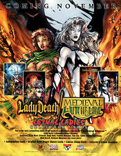 LADY DEATH MEDIEVAL WITCHBLADE LETHAL LADIES 2001 PROMOTIONAL SELL SALE SHEET