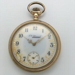 RARE Antique 1909 South Bend Grade 299 17J 16s Open Face Pocket Watch