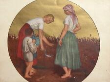 Vintage portrait harvesters art print