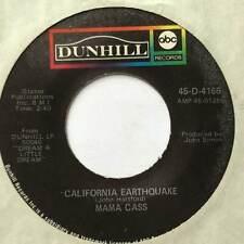 """MAMA CASS California Earthquake Dunhill USA 1970s Ex+ Pop 7"""""""