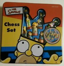 Vintage The Simpsons chess set 2000 official tin box, complete, ages 8+ #52971
