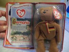 Ty Beanie Babies; Germania Teddy Bear; McDonald's International Bears Ii; 1990