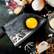 Handmade Traditional Chinese Knife Cleaver Forged Steel Chopping Slicing Chef XL