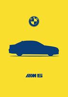 Art Print Car RENDER A4 A3 A2 sizes POSTER BMW E60 M5 -
