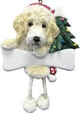 Labradoodle-Cream-Danglin g Legs Dog Christmas Ornament by E&S Pets