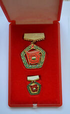 Socialist Brigade Commnist  Hungary badge Szocialista Brigad Hungarian Magyar