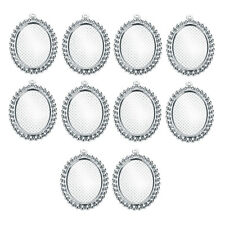 10 OVAL CAMEO CABOCHON PENDANTS SETTING BEZEL with 13x18mm blank inner trays