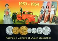1953-1964 AUSTRALIAN SILVER COINAGE OF QUEEN ELIZABETH II Mint set
