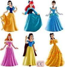 Princess Snow White Cinderella Belle 9cm Action Figures Cake Topper 6 pcs SET