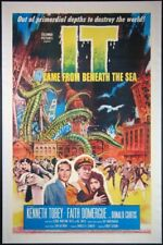 IT CAME FROM BENEATH THE SEA HARRYHAUSEN MONSTER SCI-FI 1955 1-SHEET ON LINEN
