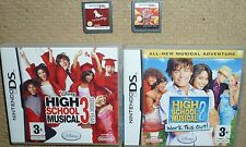 JOB LOT 4 x NINTENDO DS DSI GAMES Nintendogs Dachshund Bakugan Disney HSM 2 & 3