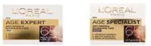 TWIN PACK L'Oreal Paris Wrinkle Expert 65+ Anti-Wrinkle DAY Cream & NIGHT Cream
