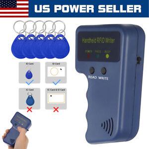 Handheld RFID ID Card Copier Key Reader Writer Duplicator 125KHz + 5PCS Tags