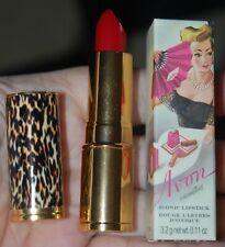 Avon Lipstick Mip Iconic Crimson Carnation Sexy Leopard Print Tube Rouge