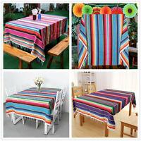 Cotton Serape Blanket Mexican Tablecloth Saltillo Table Runner Wedding Decor