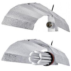 CFL Bulb Reflector Shade Euro Barn Wing Reflective Grow Lamp Fitting Tent Kit
