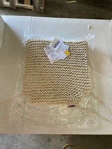 Le Pouf 100% Cotton Hand Knitted chair cushions Set of (6) Six, 309241692 NEW