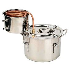2G Stainless Steel Water Alcohol Distiller Spirits Home Brew Kit 8L Wine Making