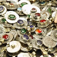 100 real Jeweled COINS Tribal Belly Dance Kuchi - MIXED (( polished ))