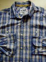 Mens Easy Long Sleeve Check Shirt Medium M