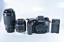 Nikon D7200 24.2 MP Digital SLR Camera With 18-55mm VR AF-P & 75-240mm AF Lenses