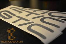3 GT/C GTC OPEL ASTRA Lettrage Décor Emblème Autocollant Logo Chrome OPC old school