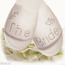 Wedding Bride Bridesmaid Hen Party Slippers Guest Sparkling Diamantes