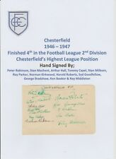 CHESTERFIELD 1946-1947 RARE ORIGINAL HAND SIGNED BOOK PAGE 12 X SIGNATURES