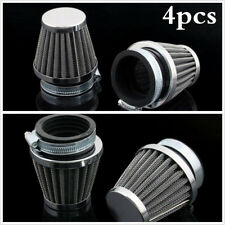 4xUniversal 48mm Motorcycle Air Cleaner Intake Filter For Bobber Chopper Cruiser