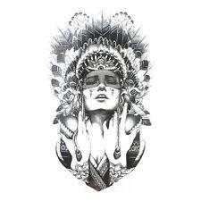 Indian Warriors Temporary Tattoo Body Art Flash Waterproof Henna Tatoo Stickers