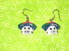 / Halloween Mexican Folk Art La Catrina Earrings Day of Dead