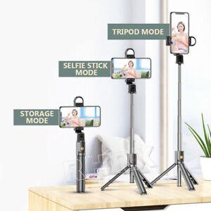 Bluetooth Remote Selfie Stick Tripod w/ LED Light for iPhone 13 12 Samsung S21