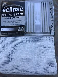 "Keeco Eclipse Absolute Zero 100% Blackout Rod Pocket Panel Jolie Grey 40"" x 84"""