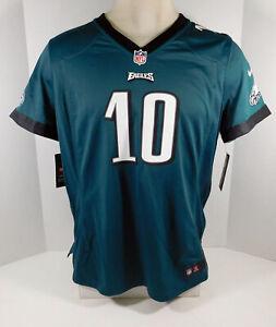 New Womens Philadelphia Eagles DeSean Jackson #10 Green Game Jersey XL Nike NWT