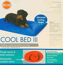 NEW K&H Cool Bed III Water Bed Blue Small 60cm x 43cm. For Cats or Dogs