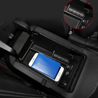 For Ford Mustang 2015 2016 Plastic Armrest Storage Box Organizer Case Tray 1pcs