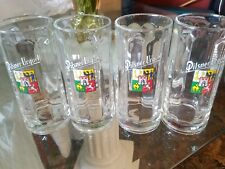 4 Pilsner Urquell Tall Beer Mugs