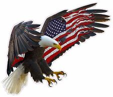 """American Eagle American Magnet Flag Decal 5.5"""" Free Shipping"""