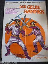 DER GELBE HAMMER -KINOPLAKAT A1 -Fast Sword Chang Yi Han Hsiang-Chin eastern