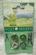 Golf Ireland Brass Ball Markers New in Package