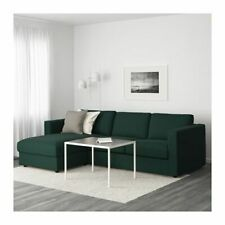 IKEA VIMLE  Cover for 3-seat sofa, with chaise longue, Gunnared Dark Green