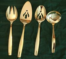 FOUR PIECE  RODGERS GOLD PLATED SERVING SET